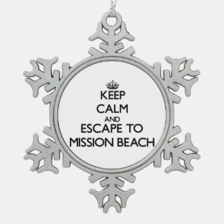 Keep calm and escape to Mission Beach California Ornaments