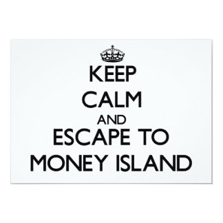 Keep calm and escape to Money Island New Jersey 5x7 Paper Invitation Card