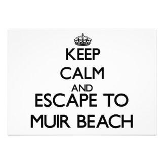 Keep calm and escape to Muir Beach California Invitation
