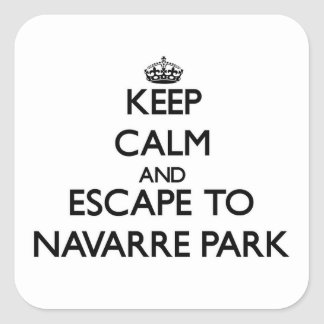 Keep calm and escape to Navarre Park Florida Square Stickers