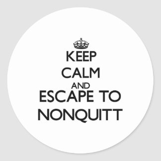 Keep calm and escape to Nonquitt Massachusetts Classic Round Sticker