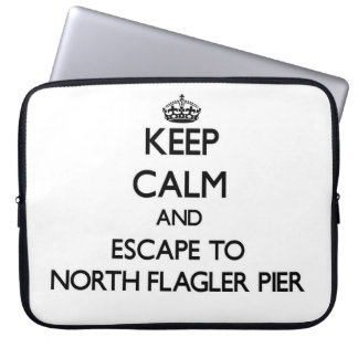 Keep calm and escape to North Flagler Pier Florida Laptop Sleeve