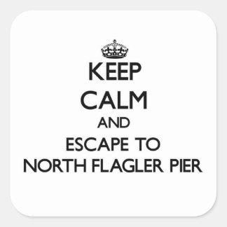 Keep calm and escape to North Flagler Pier Florida Sticker