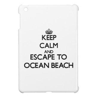 Keep calm and escape to Ocean Beach New York iPad Mini Covers