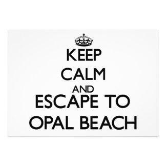 Keep calm and escape to Opal Beach Florida Invites