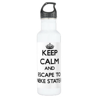 Keep calm and escape to Ossineke State Park Michig 24oz Water Bottle