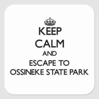 Keep calm and escape to Ossineke State Park Michig Square Sticker