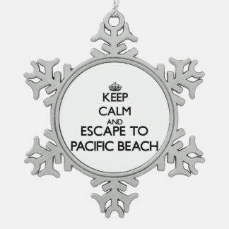 Keep calm and escape to Pacific Beach California Ornament