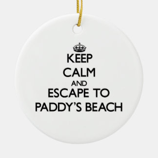 Keep calm and escape to Paddy'S Beach Rhode Island Christmas Ornaments