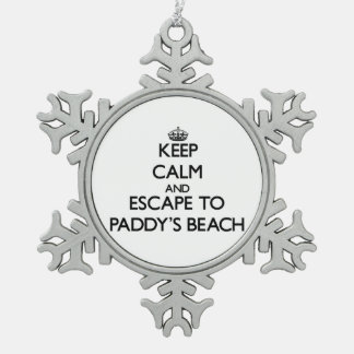 Keep calm and escape to Paddy'S Beach Rhode Island Ornaments