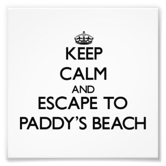 Keep calm and escape to Paddy'S Beach Rhode Island Photographic Print