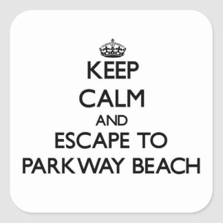 Keep calm and escape to Parkway Beach Wisconsin Stickers