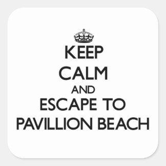 Keep calm and escape to Pavillion Beach Massachuse Square Sticker