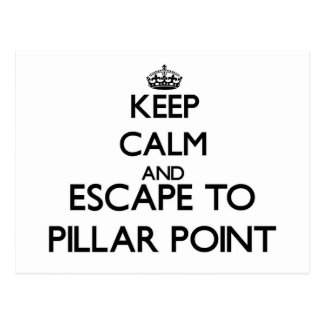 Keep calm and escape to Pillar Point California Postcard