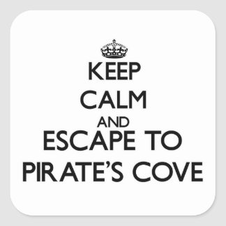 Keep calm and escape to Pirate S Cove Alabama Stickers