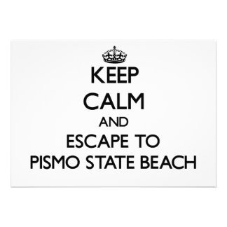 Keep calm and escape to Pismo State Beach Californ Invite