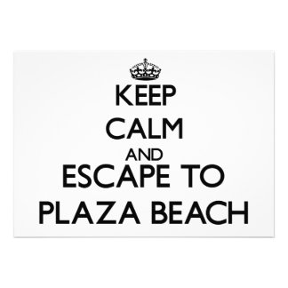 Keep calm and escape to Plaza Beach New York Custom Invitation
