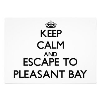 Keep calm and escape to Pleasant Bay Massachusetts Personalized Invitation