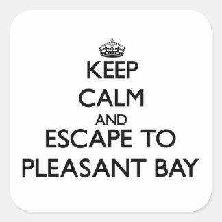 Keep calm and escape to Pleasant Bay Massachusetts Square Sticker