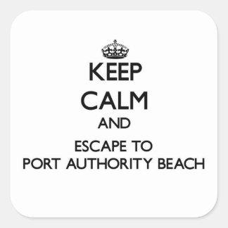 Keep calm and escape to Port Authority Beach Guam Square Stickers