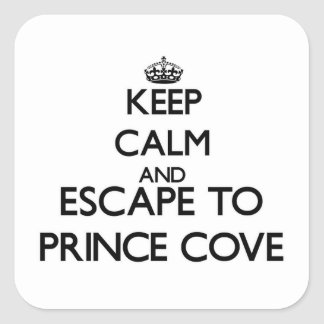 Keep calm and escape to Prince Cove Massachusetts Square Stickers