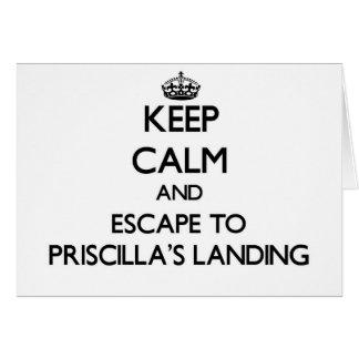 Keep calm and escape to Priscilla'S Landing Massac Cards
