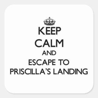 Keep calm and escape to Priscilla'S Landing Massac Square Sticker