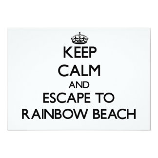 Keep calm and escape to Rainbow Beach Illinois 5x7 Paper Invitation Card