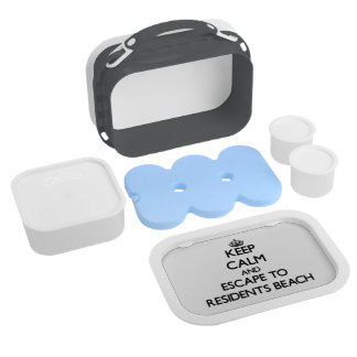 Keep calm and escape to Residents Beach Massachuse Lunchbox