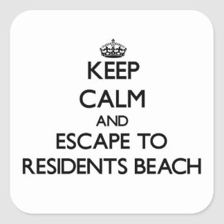 Keep calm and escape to Residents Beach Massachuse Square Sticker