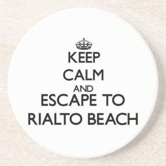 Keep calm and escape to Rialto Beach Washington Beverage Coaster