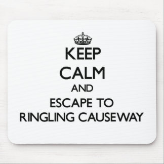 Keep calm and escape to Ringling Causeway Florida Mouse Pad