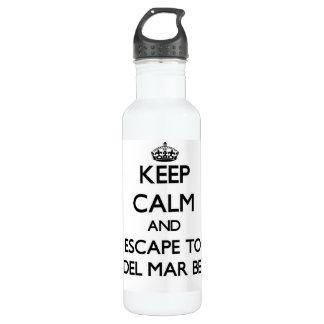 Keep calm and escape to Rio Del Mar Beach Californ 24oz Water Bottle