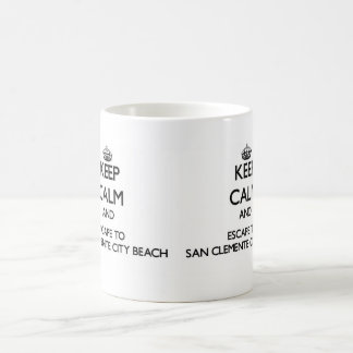 Keep calm and escape to San Clemente City Beach Ca Classic White Coffee Mug