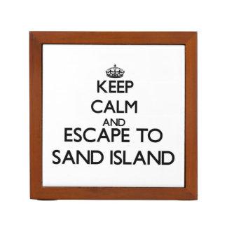 Keep calm and escape to Sand Island Hawaii Pencil Holder