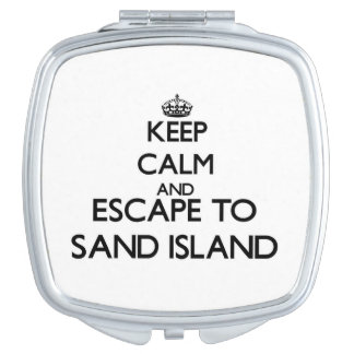 Keep calm and escape to Sand Island Hawaii Travel Mirrors