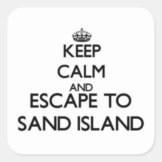 Keep calm and escape to Sand Island Hawaii Square Sticker