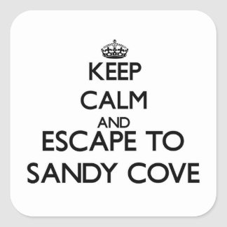 Keep calm and escape to Sandy Cove Massachusetts Stickers