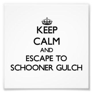 Keep calm and escape to Schooner Gulch California Photograph
