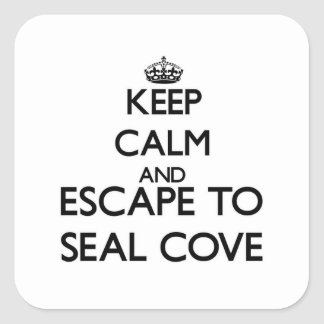 Keep calm and escape to Seal Cove Massachusetts Sticker