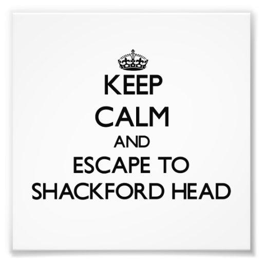 Keep calm and escape to Shackford Head Maine Photo Print