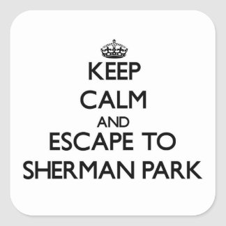 Keep calm and escape to Sherman Park Michigan Stickers