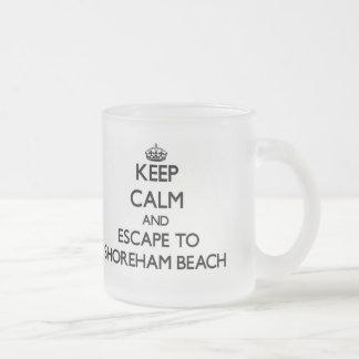 Keep calm and escape to Shoreham Beach New York 10 Oz Frosted Glass Coffee Mug