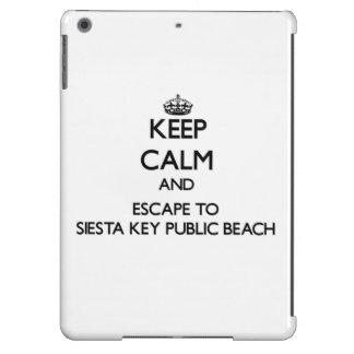 Keep calm and escape to Siesta Key Public Beach Fl iPad Air Case