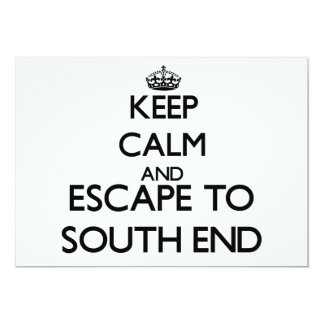 Keep calm and escape to South End Florida 5x7 Paper Invitation Card