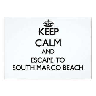Keep calm and escape to South Marco Beach Florida 5x7 Paper Invitation Card