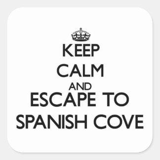 Keep calm and escape to Spanish Cove Alabama Square Sticker
