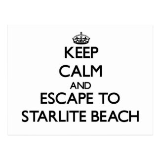 Keep calm and escape to Starlite Beach Michigan Postcard