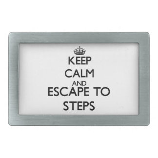 Keep calm and escape to Steps Massachusetts Belt Buckle