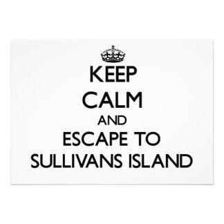 Keep calm and escape to Sullivans Island South Car Invite